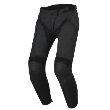 Alpinestars Jagg Leather Motorcycle Race Sports Track Pants Stealth Black